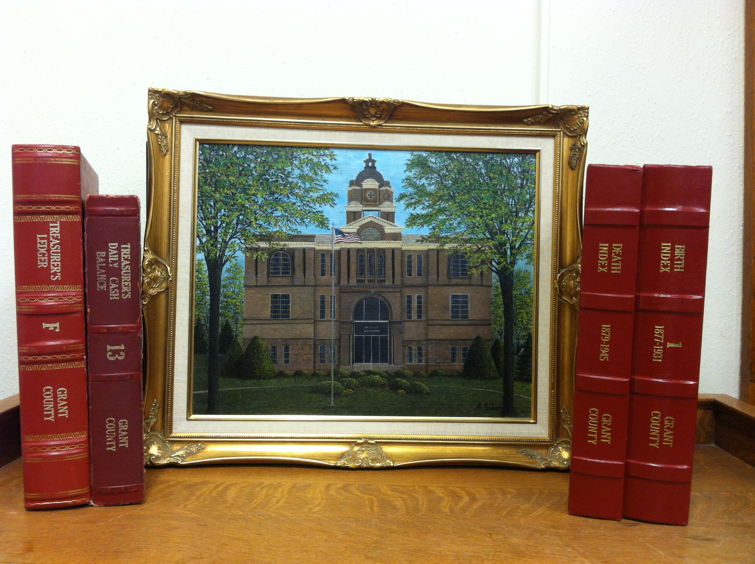 Oil Painting of Courthouse in 1990